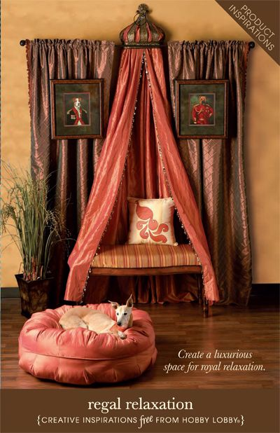 Regal Relaxation from Hobby Lobby.  I see this as inspiration for the bedroom.