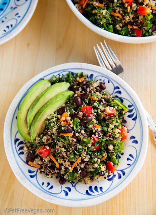 Kale and Quinoa Salad with Black Beans.....vegan.