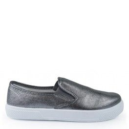 SLIPERSY SLIP ON SREBRNE SNAKE