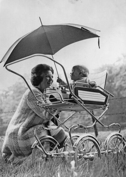 Queen Beatrix with Prince Willem-Alexander