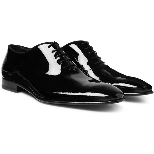 1d55444f8d1 Hugo Boss Patent-Leather Oxford Shoes ($375) ❤ liked on Polyvore ...