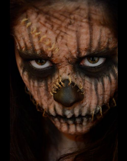 Special Effects Makeup by Madison Schofield, via Behance (Could be a great make-up effect for The Scarecrow.)