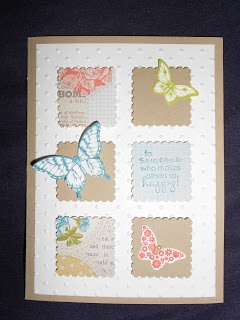 Stampin' Snowflake: Subtle Butterflies