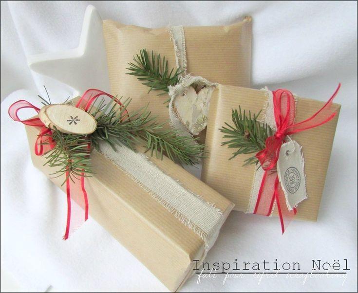 emballage cadeau kraft rouge vert no l sapin ideas boxa pinterest emballage sapin et vert. Black Bedroom Furniture Sets. Home Design Ideas