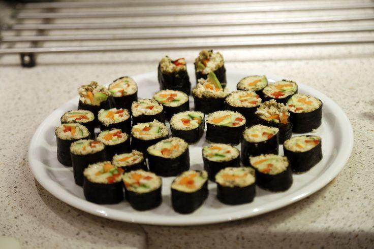 Glutenfri, vegetariske sushiruller christinebonde