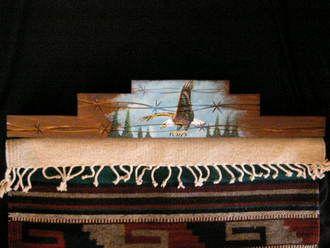 "Western Tapestry Hanger 30"""" -Eagle (RH8)"