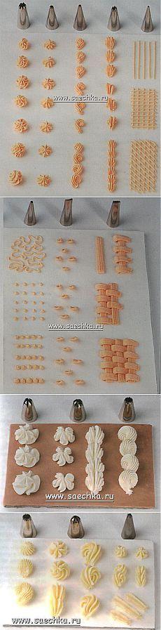 Украшение тортов кремом | рецепты на Saechka.Ru