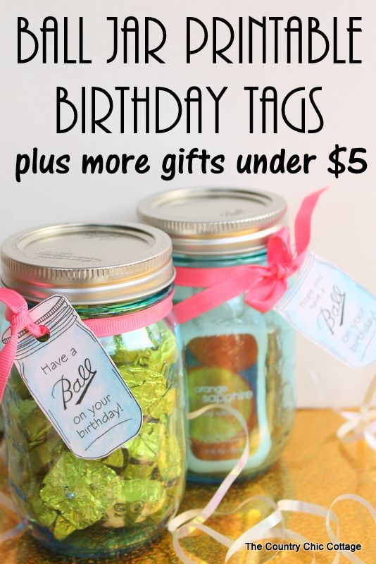 Printable birthday tags
