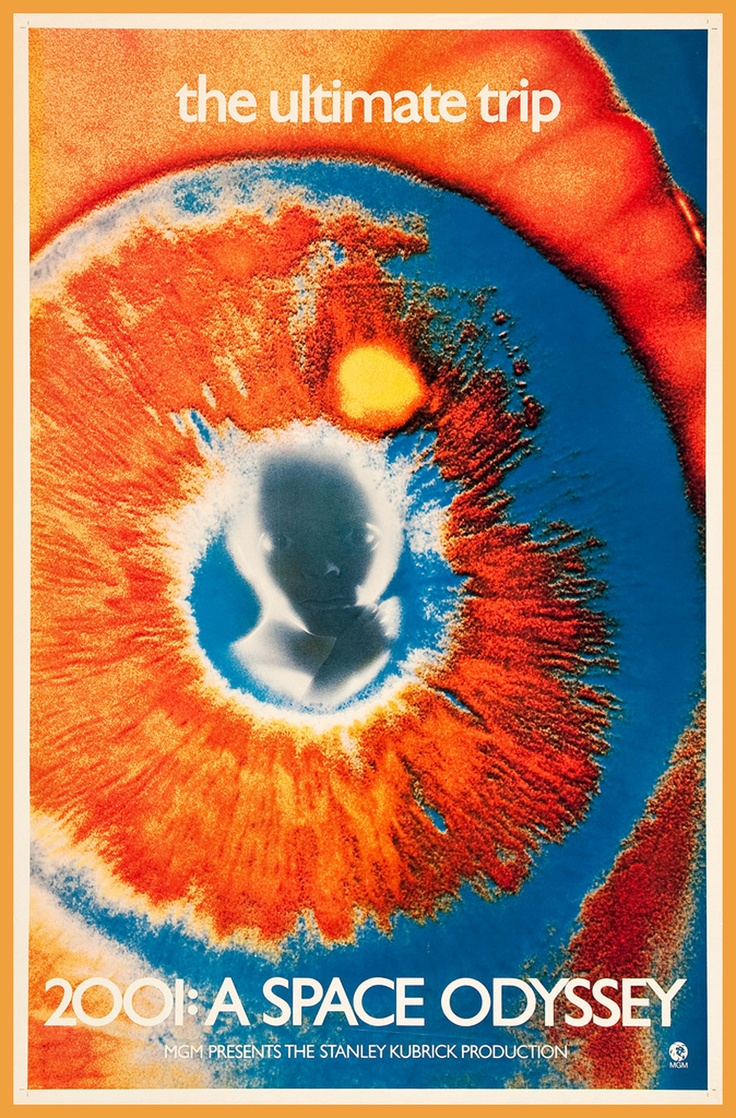 2001: A Space Odyssey rare artwork one sheet movie poster (1968).
