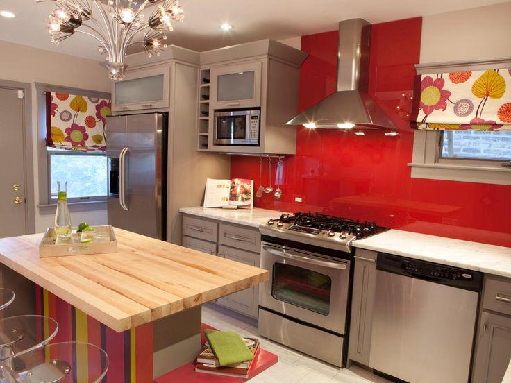Kitchen Countertops: Beautiful, Functional Design Options | Kitchen Designs - Choose Kitchen Layouts & Remodeling Materials | HGTV ---- THE GLASS BACKSPLASH IS INTERESTING.
