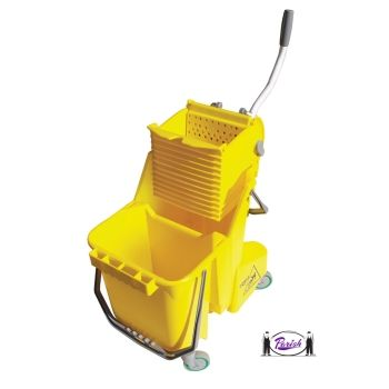 Double Bucket Mop System Dual Compartment Mopping Kit