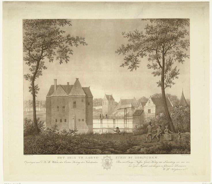Slot Loevestein, ca. 1820, Willem Hendrik Hoogkamer, Willem I Frederik (koning der Nederlanden), 1814 - 1864