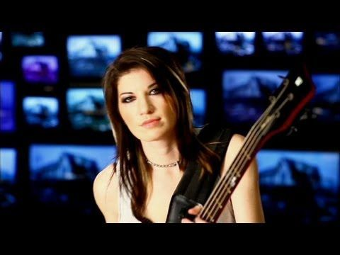 Not only a badass bassist, but Hot too! Sick Puppies - Riptide