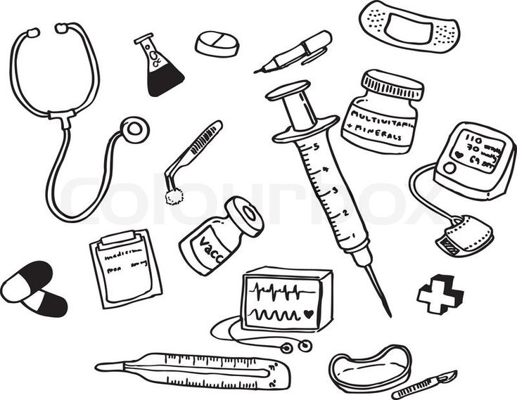 doctor tools coloring pages  munity helpers