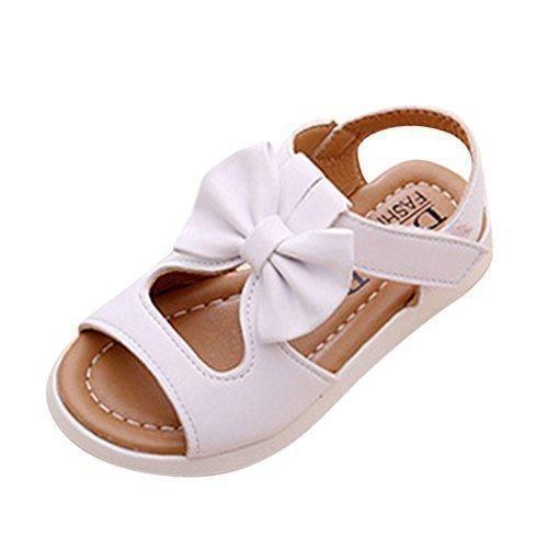 Oferta: 25€ Dto: -52%. Comprar Ofertas de Del Bowknot Huecos Planas Sandalias de Velcro Playa los Zapatos Para Niños Verano al Aire Libre Zapatos Para Caminar Niñas barato. ¡Mira las ofertas!