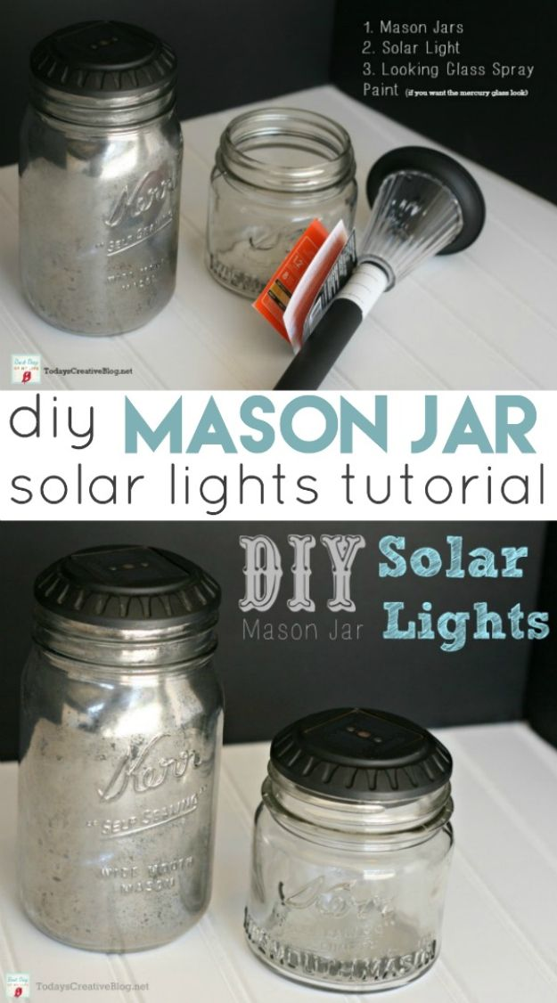 DIY Solar Powered Projects - DIY Mason Jar Solar Lights - Easy Solar Crafts and DYI Ideas for Making Solar Power Things You Can Use To Save Energy - Step by Step Tutorials for Making Things Without Batteries - DIY Projects and Crafts for Men and Women http://diyjoy.com/diy-solar-power-projects