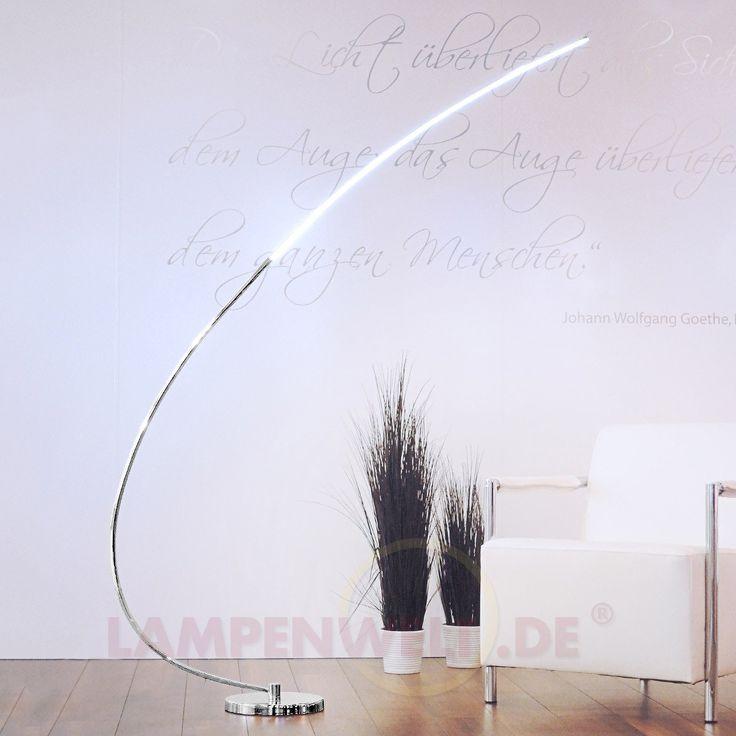 Metall-Bogen-Stehleuchte Chromo mit LED 6002673