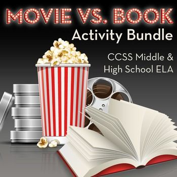 Bundle of 15 activities to compare books with movies (CCSS RL.7) for middle and high school English class!