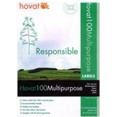 Recycled Printer Labels 64 x 38.1mm - 21 Per Sheet - x 100 made by Green Stationery Co in #Somerset - £31.08