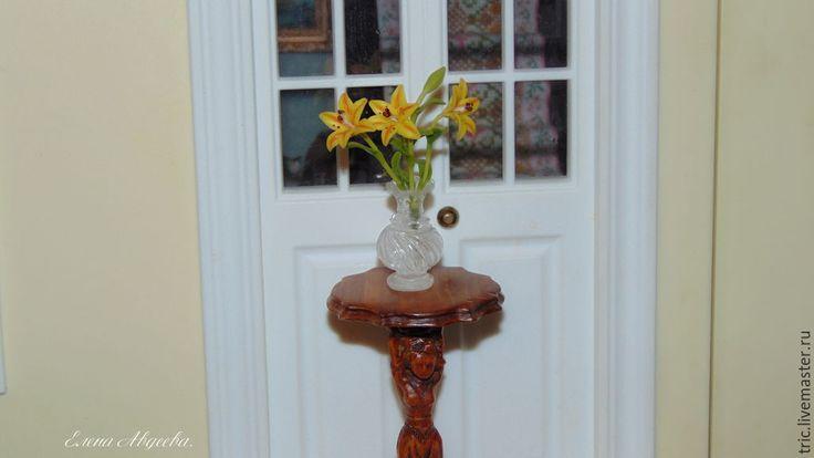 Купить Цветочная ваза 1:12 - коллекционная миниатюра, кукольная миниатюра, кукольные аксессуары, кукольный дом
