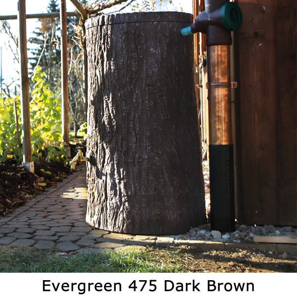 475l Evergreen Tree Trunk Water Butt :: Green Garden Shop