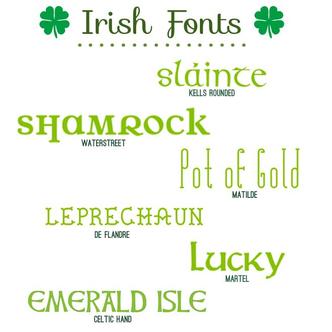 Fabulous Font Finds: Irish Fonts