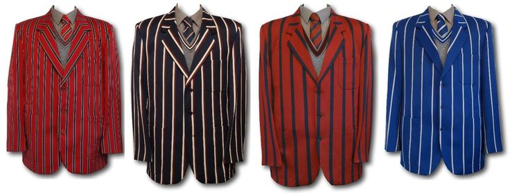 School uniform / boating venetian stripe blazers in adult sizes. This style of blazer is still worn by boys and girls at at many exclusive British schools. These traditional school blazers are made from 70% wool & 30% cotton, worsted woven fabric.   eBay!