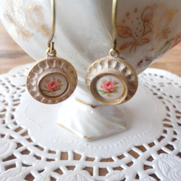 Bower Bird Collection  Vintage floral rose by littleittybitty, $16.00