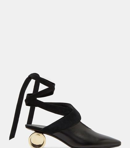 J.W.ANDERSON OPEN CYLINDER HEEL BALLERINA SHOES. #j.w.anderson #shoes #