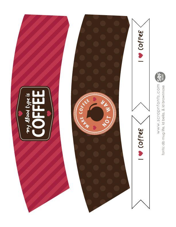 free printable coffee sleeve