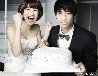 Tablo & Kang Hye-jung wedding photo