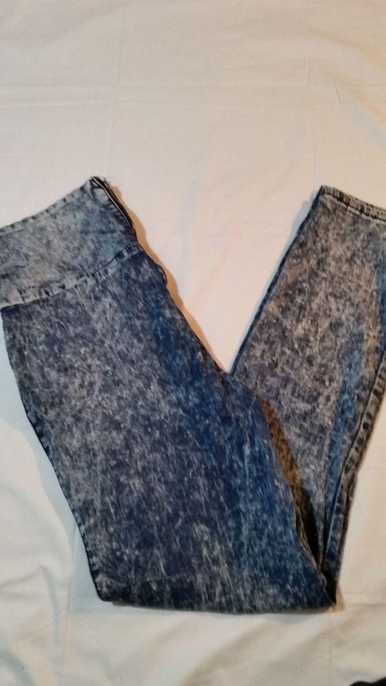 ALMOST FAMOUS Juniors Crave Fame Acid Wash Zipper Back Skinny Jeans Sz 13 #AlmostFamous #Skinny