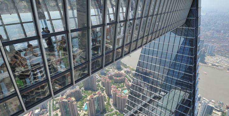 Vue du Shanghai World Financial Center (492 m, Shanghai/Chine, 2008)