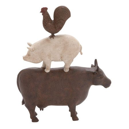 Found it at wayfair americana cow pig rooster farm for Animal decoration