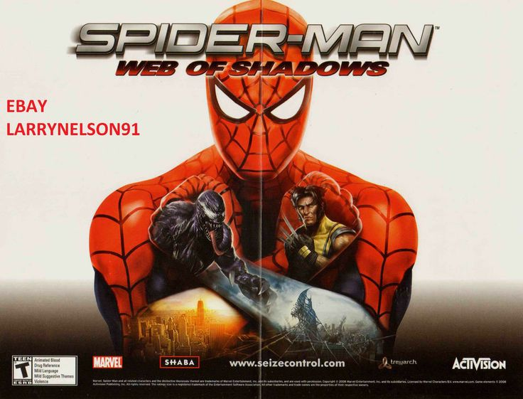 VENOM WOLVERINE AMAZING SPIDER-MAN WEB OF SHADOWS MARVEL COMIC BOOK PROMO POSTER