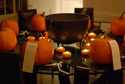 Party Theme: Pumpkin carving party! Other cute holiday parties: gingerbread house making, caramel apple making, Easter egg decorating
