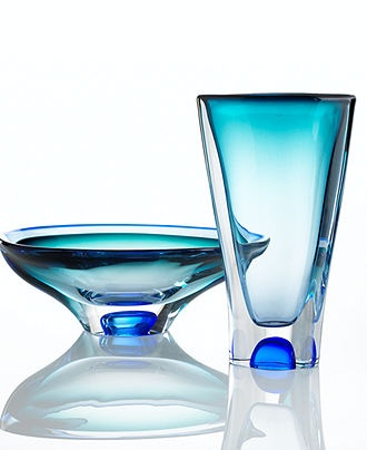 Kosta Boda Art Glass, Vision Blue Collection - Collections - for the home - Macy's