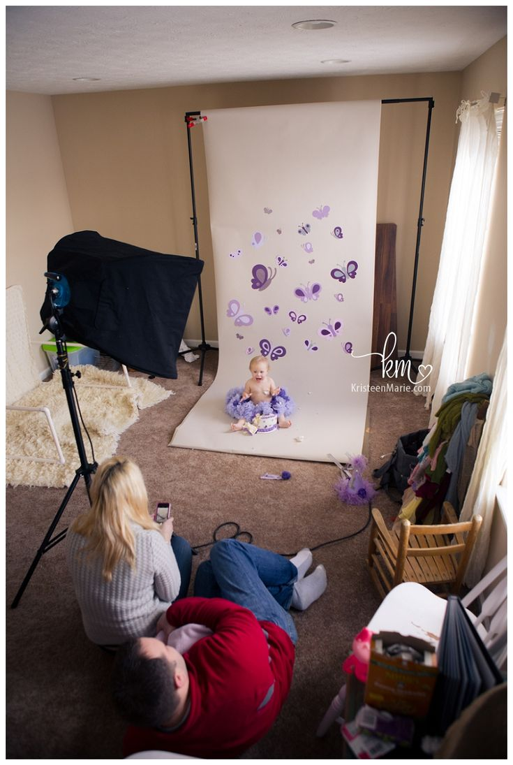 Purple Butterfly Cake Smash – Payton is ONE
