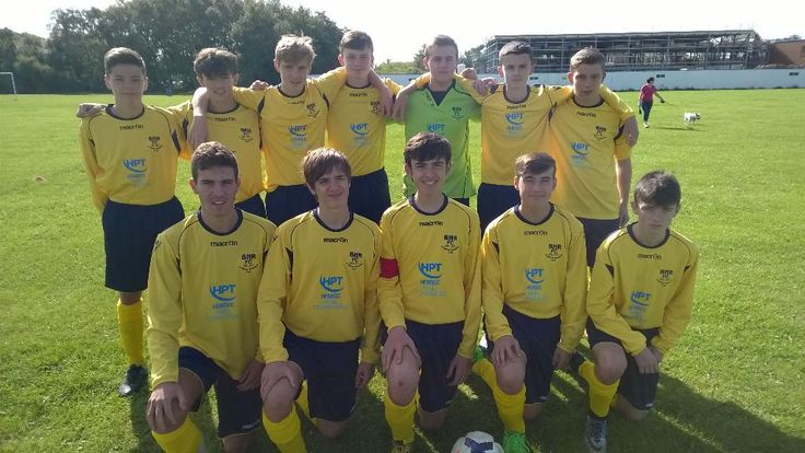 The 2015 Bleak Hill Rovers U16s Squad Photo showing their new HPT sponsored Away Kit.