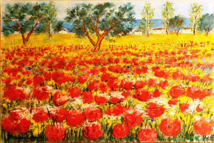 Michele Cascella - Poppy Field