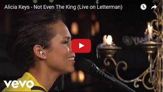 Watch: Alicia Keys - Not Even The King (Live on Letterman) See lyrics here: http://aliciakeyslyric.blogspot.com/2017/03/not-even-king-lyrics-alicia-keys.html #lyricsdome