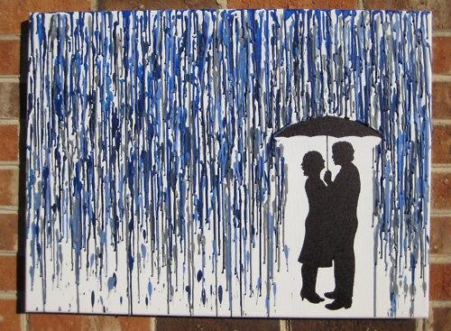 crayon art melted crayon crayon melted rain umbrella love