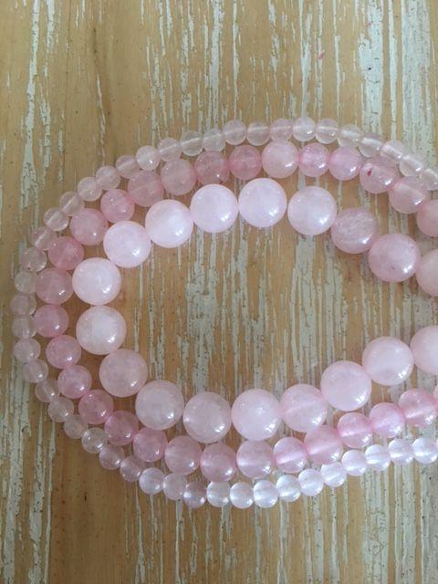Rose Quartz - 4, 6 & 8mm beads