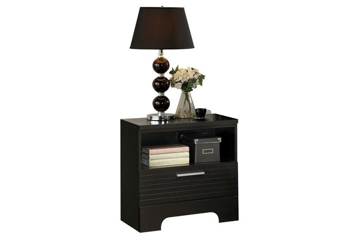 Burbank Black Nightstand