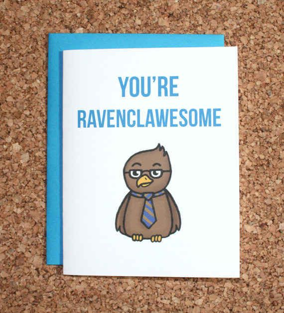 This epic card you can share with your fellow Ravenclaws.