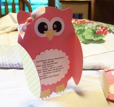 ***Owl Invites using Paisley Cricut Cartridge.