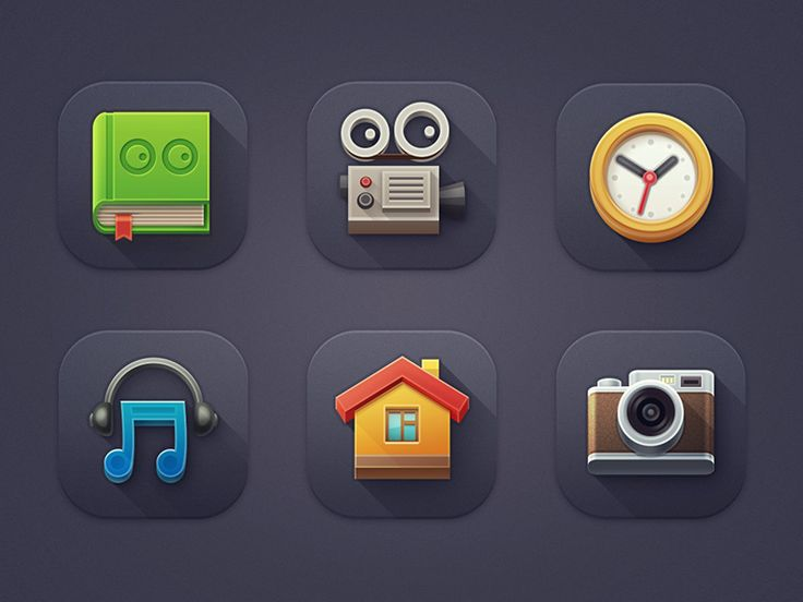 """Icons for children's tablet """"MultiBook"""""""