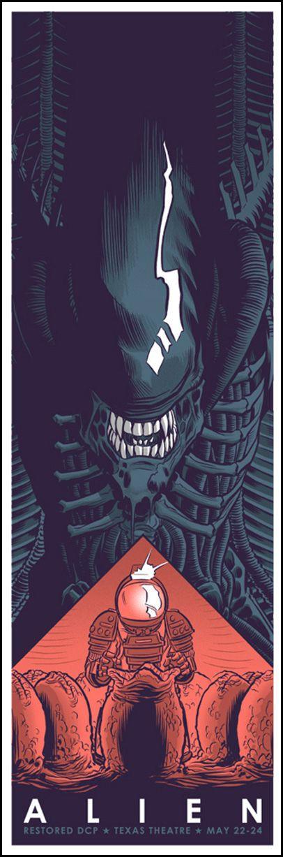 Alien, o oitavo passageiro by Robert Wilson | 1979 | #alien #filme #movie #poster #ilustração #illustration