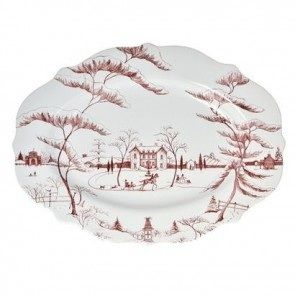 "For those who love stoneware, this platter from Juliska will be sure to please! ""Country Estate"" ruby holiday platter, made in Portugal, measures 18.5"" x 13.5. Oven, dishwasher, microwave, freezer safe. Go to youboutiques.com for more info.  #Juliska #Christmas#holiday#tabletop#stoneware #plattersYOU!Boutiques."