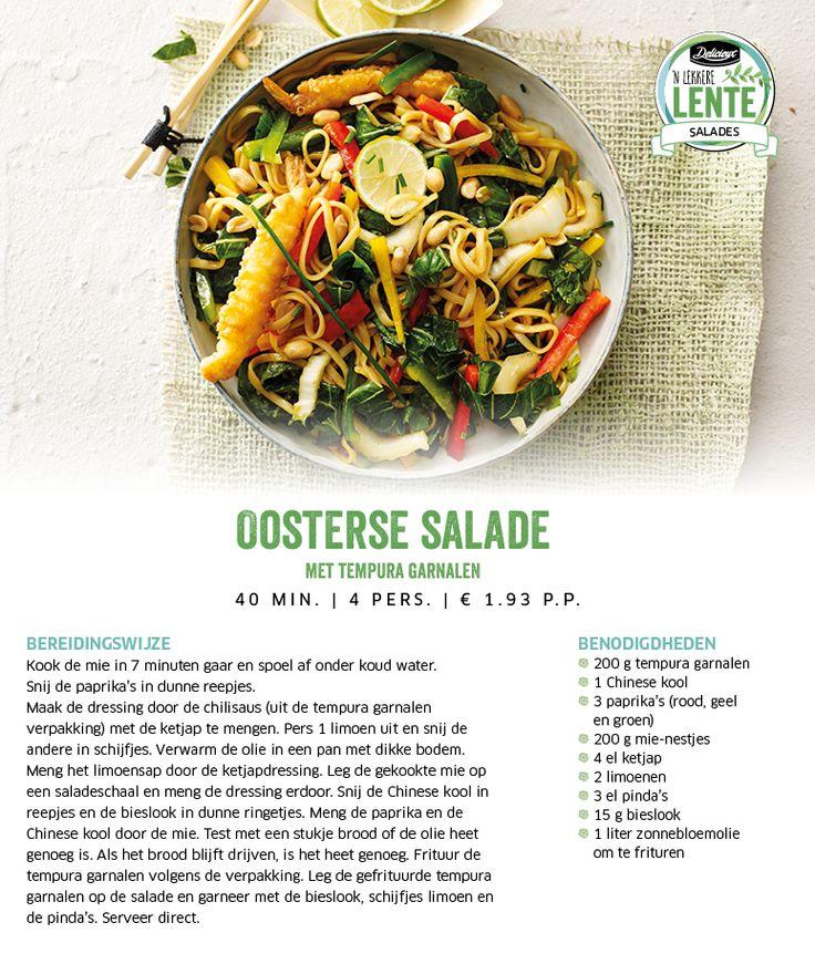 Oosterse salade met tempura garnalen - Lidl Nederland